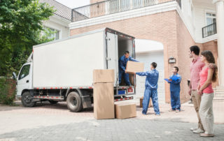 removalist company loading items in a truck