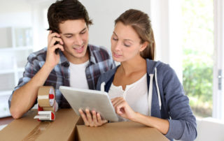 couple hiring removalists over the phone