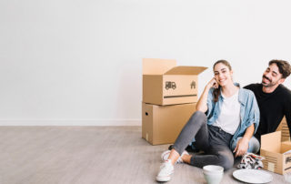 sydney removalists unloaded boxes at couple's new apartment